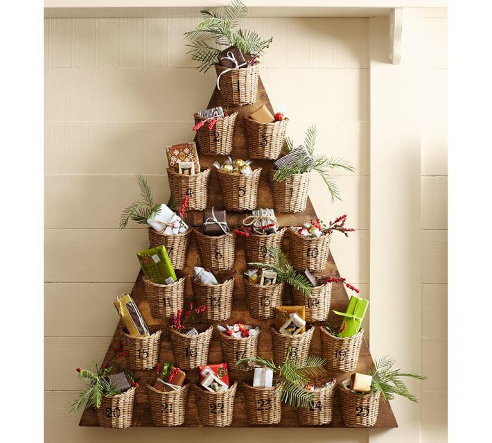 Diy Tree Advent Calendar Free Plans Pottery Barn Inspired