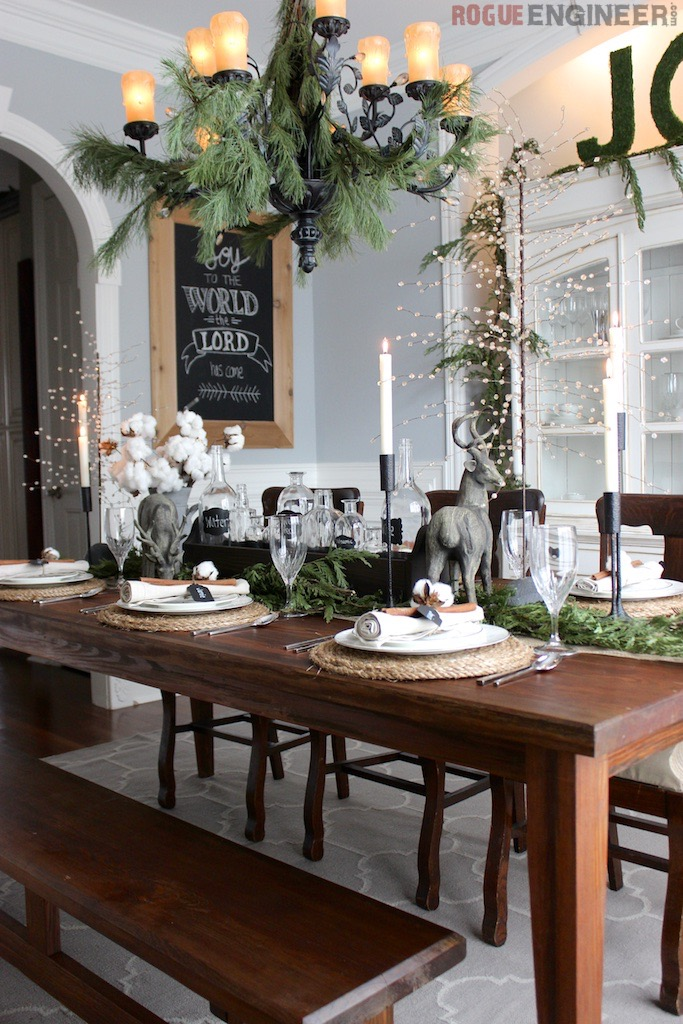 Southern Rustic Christmas Tablescape Rogue Engineer