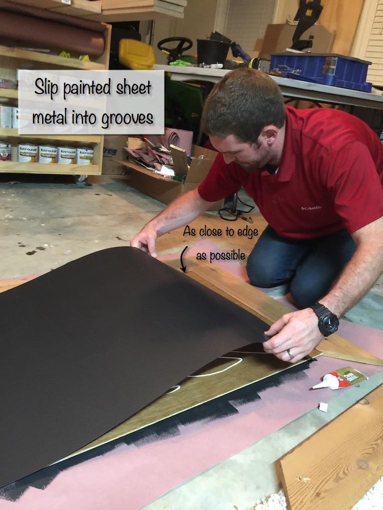 DIY Cedar-Framed Magnetic Chalkboard 10