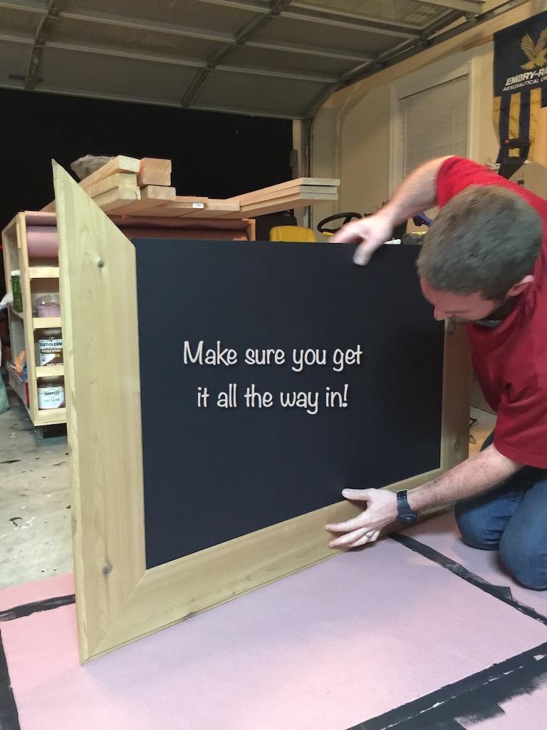 DIY Cedar-Framed Magnetic Chalkboard 12