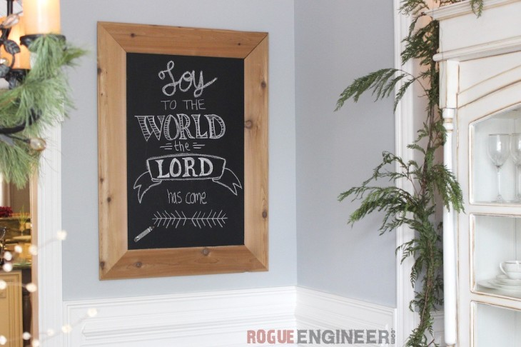 DIY Cedar-Framed Magnetic Chalkboard | Rogue Engineer