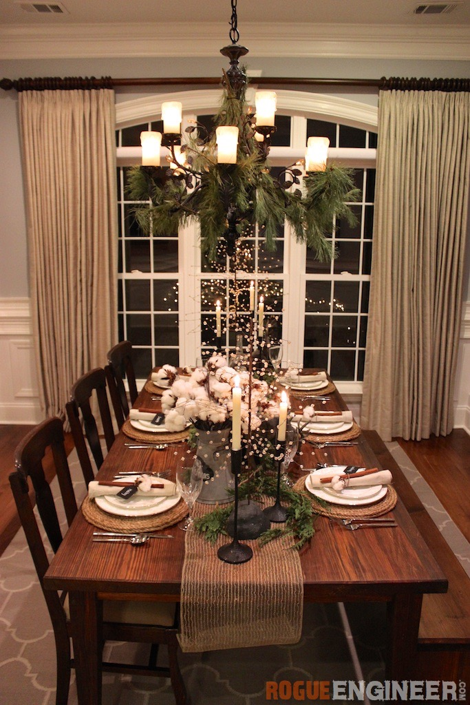 Christmas Table Scape Ideas.Southern Rustic Christmas Tablescape Rogue Engineer