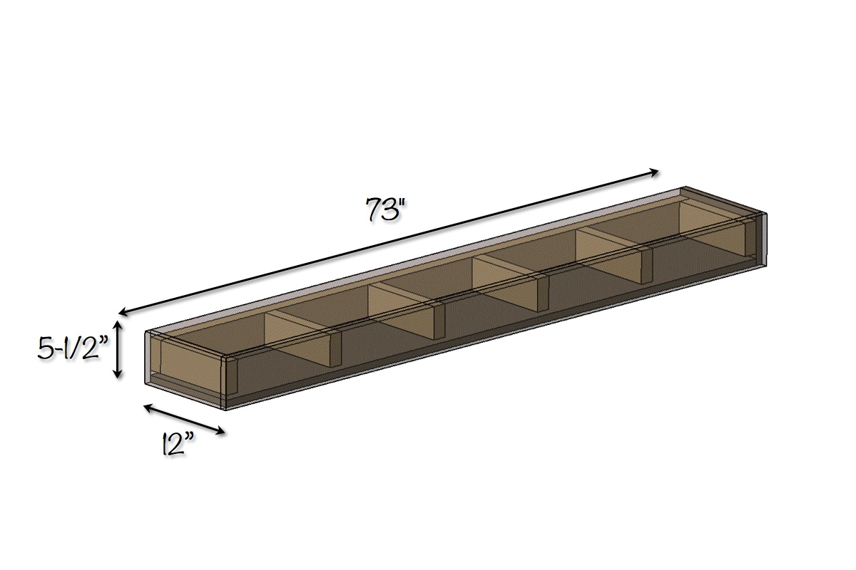 DIY Floating Shelves | Free Plans | Dimensions