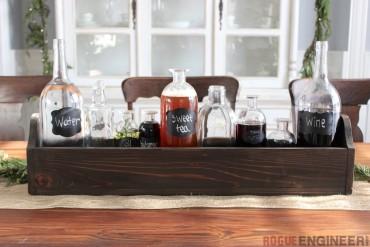 DIY Glass Bottle Centerpiece | Free Plans | Rogue Engineer