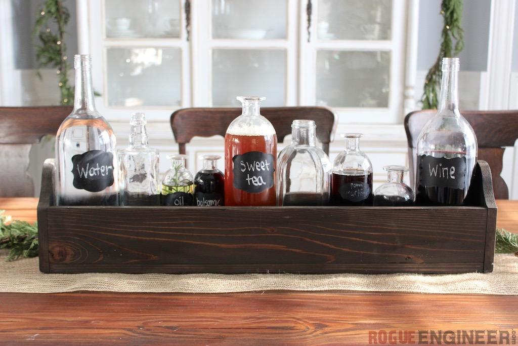 Simple diy glass bottle centerpiece free plans