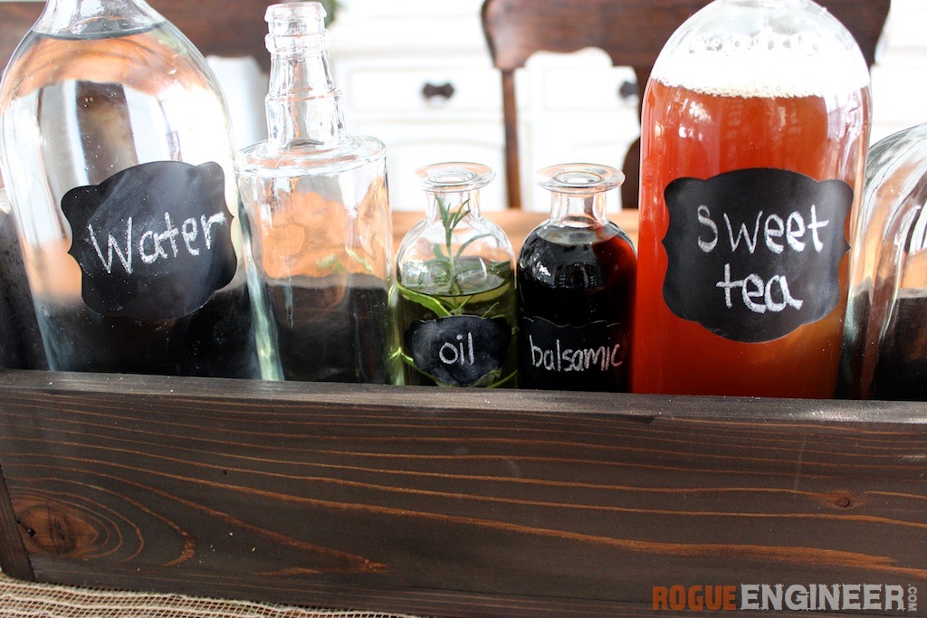 DIY Glass Bottle Centerpiece | Rogue Engineer
