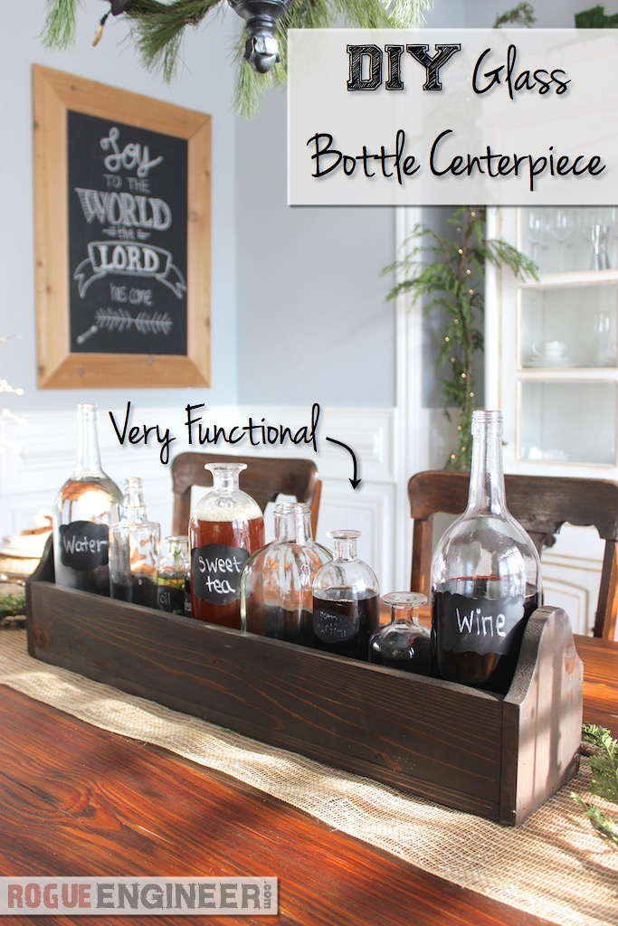 DIY Glass Bottle Centerpiece | Rogue Engineer | Pinterest Friendly