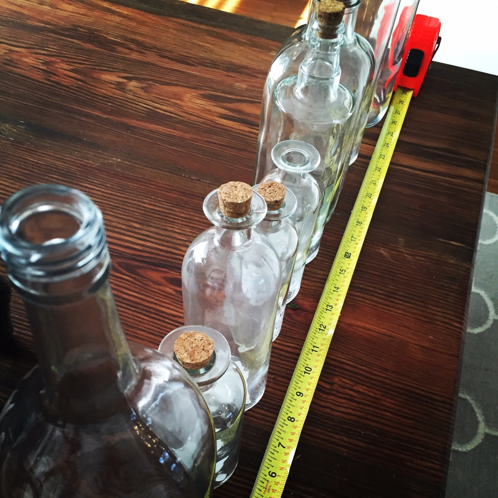 DIY Glass Bottle Centerpiece | Step 1