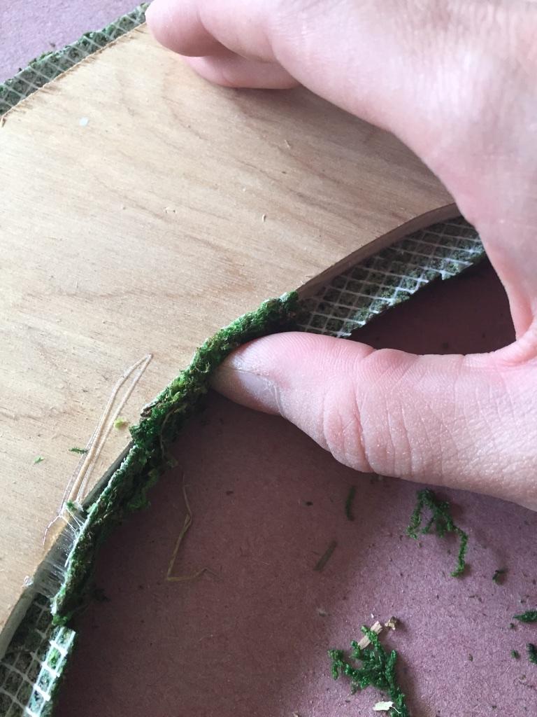 Hold down on glued edge