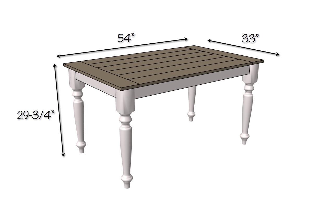 Free Farmhouse Table Plans: DIY Solid Oak Farmhouse Table