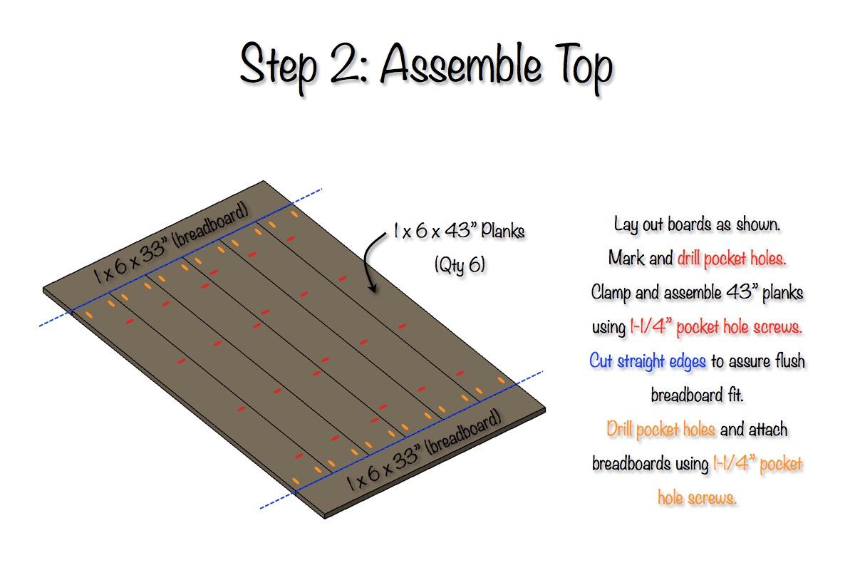 DIY Elegant Farmhouse Table   Step 2