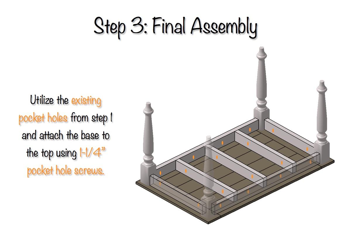 DIY Elegant Farmhouse Table   Step 3