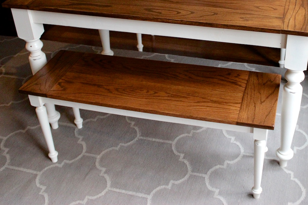 DIY Solid Oak Farmhouse Bench