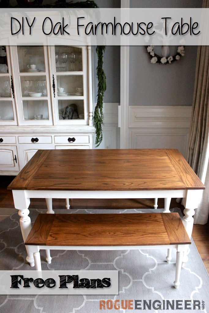 Fine Diy Solid Oak Farmhouse Table Free Easy Plans Creativecarmelina Interior Chair Design Creativecarmelinacom