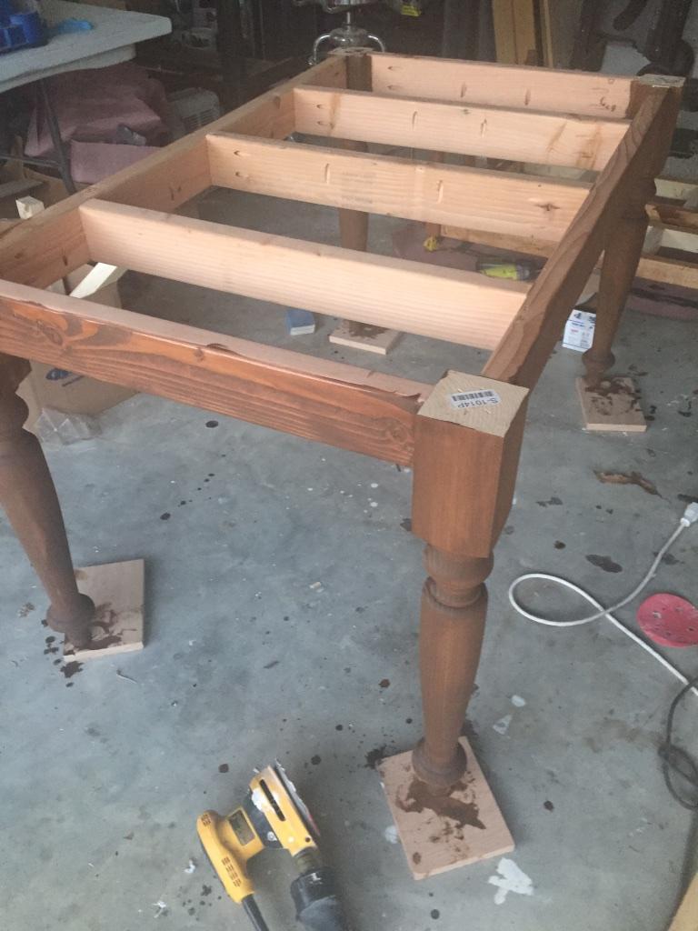 DIY Elegant Oak Farmhouse Table   Finishing