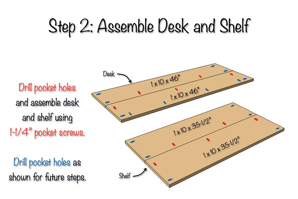 DIY Sicily Desk | Step 2