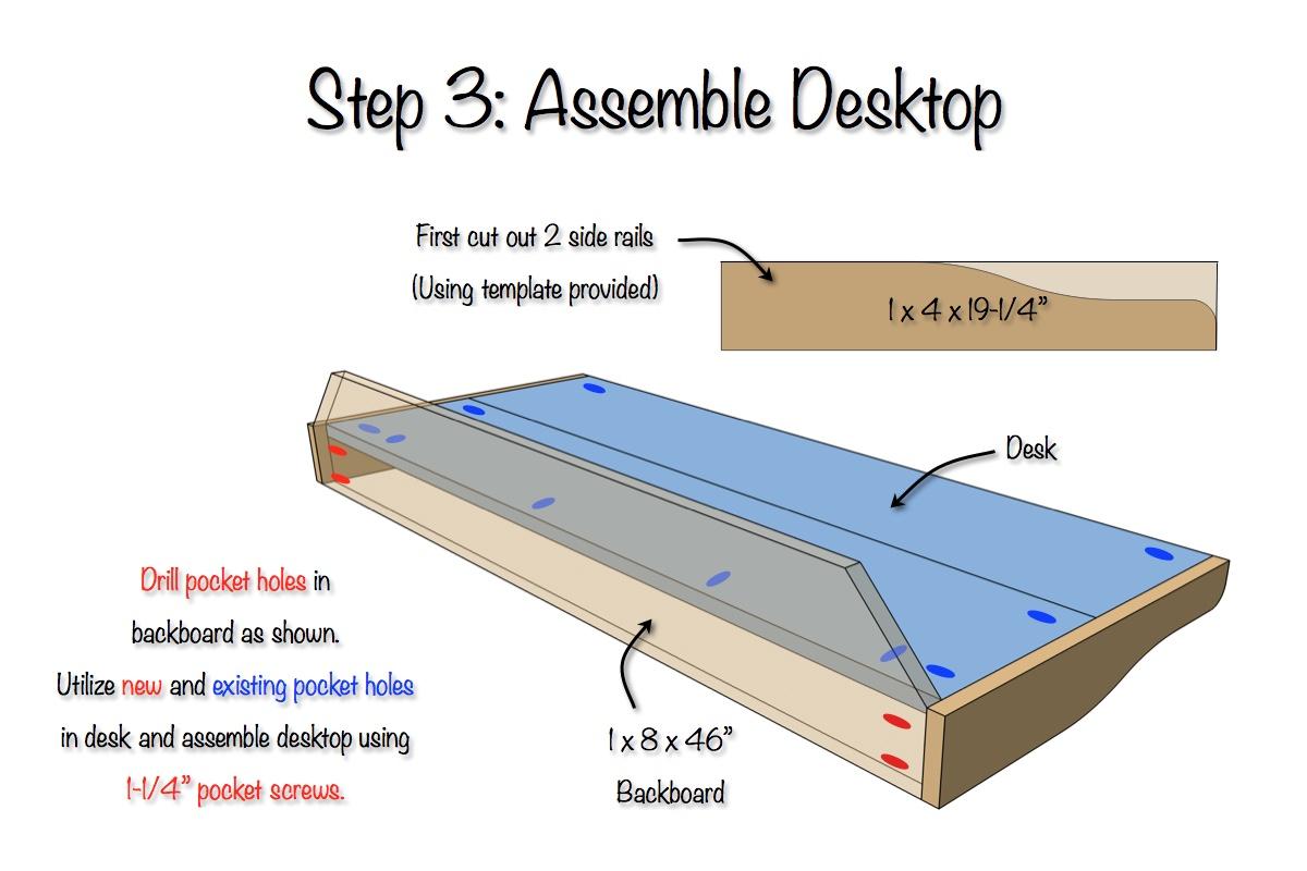 DIY Sicily Desk | Step 3