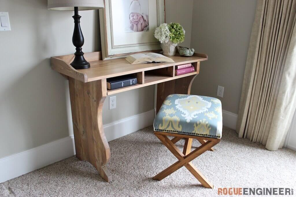 DIY Sicily Writing Desk | Free Plans | Pottery Barn Inspired