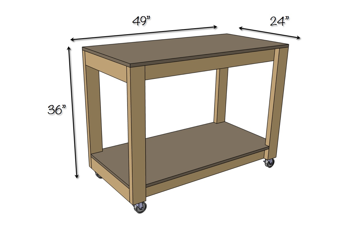 Easy DIY Portable Workbench Plans | Dimensions