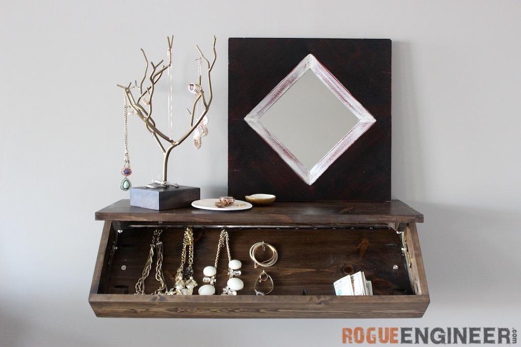 best service 63141 d0457 DIY Secret Floating Shelf - Free Plans - Rogue Engineer