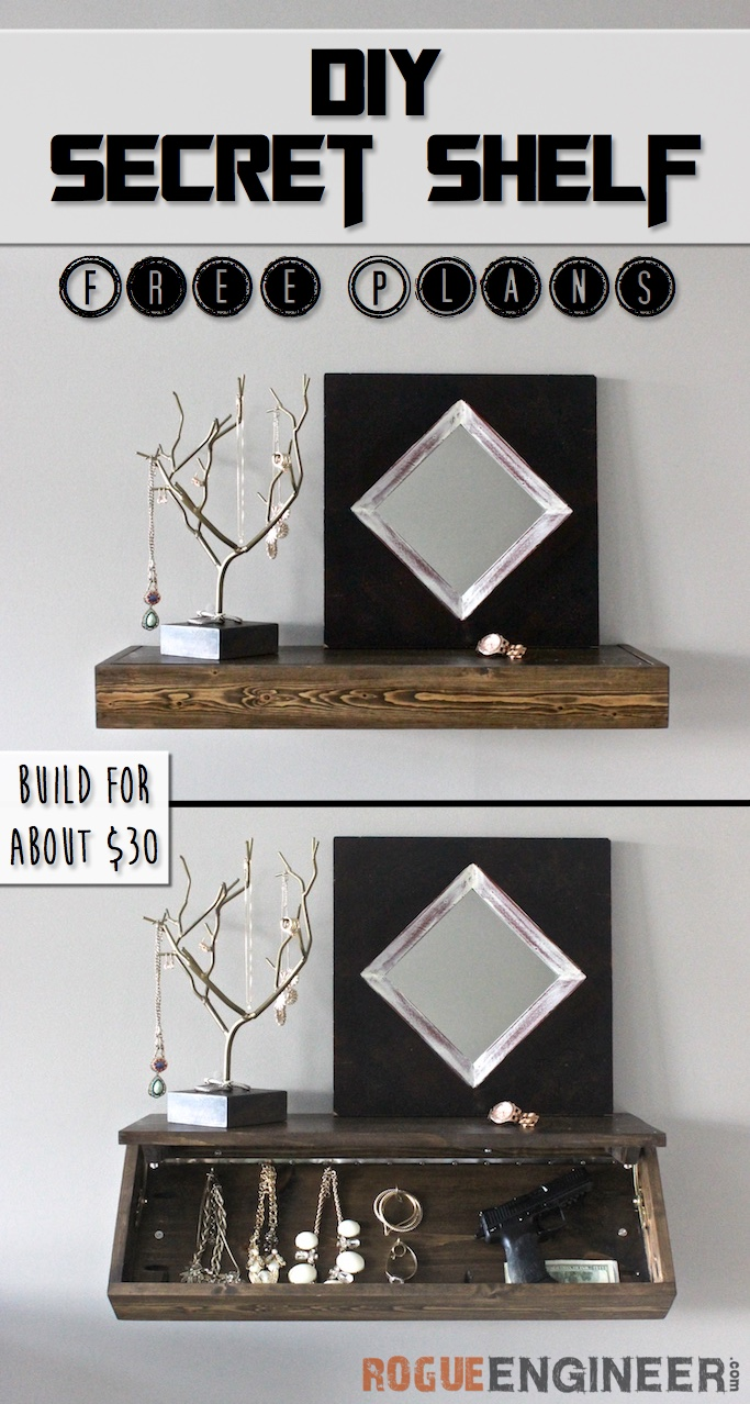 Superb Diy Secret Floating Shelf Free Plans Rogue Engineer Onthecornerstone Fun Painted Chair Ideas Images Onthecornerstoneorg