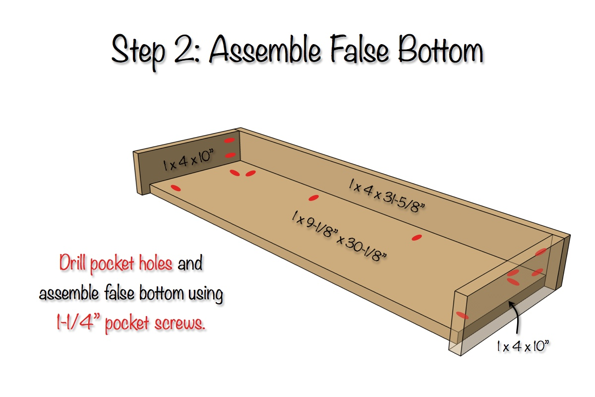 Secret Shelf Free Plans Step 2