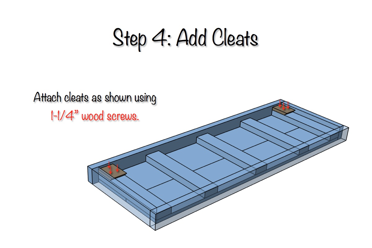 Trestle Desk - Free Plans - Step 3