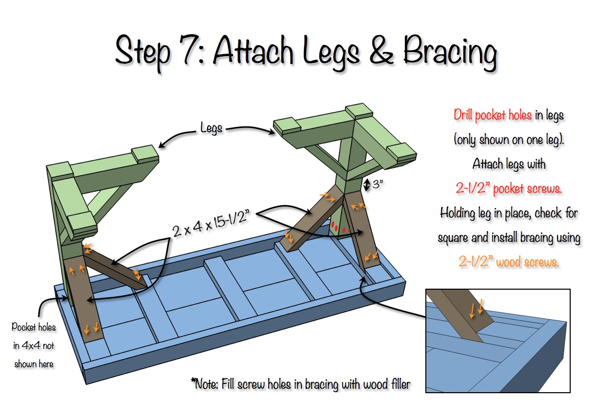 Trestle Desk - Free Plans - Step 7