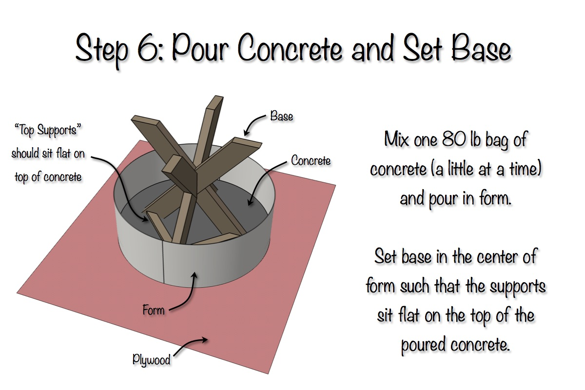 DIY X-Brace Concrete Side Table Plans | Step 6