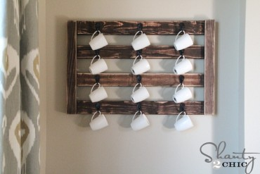 DIY Wall Mount Coffee Mug Hanger | Free Plans | Rogue Engineer