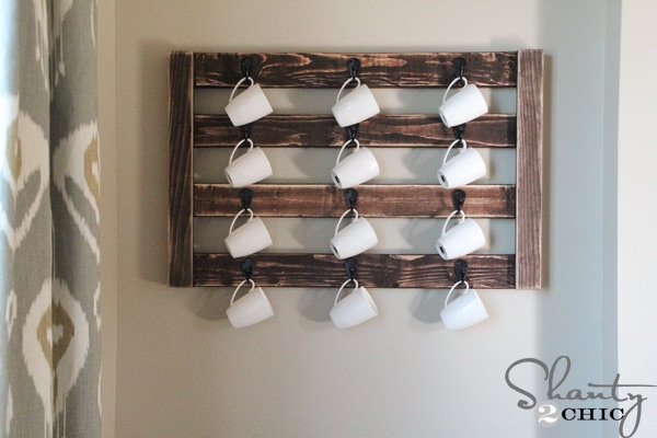 Diy Wall Mount Coffee Mug Hanger Free Plans Rogue Engineer
