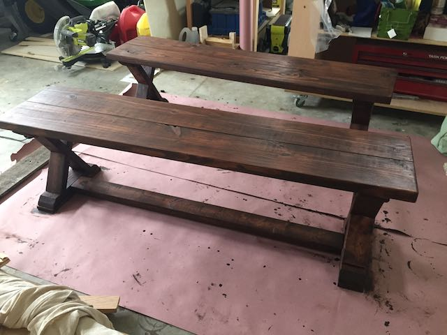 DIY X-Brace Bench | Finishing