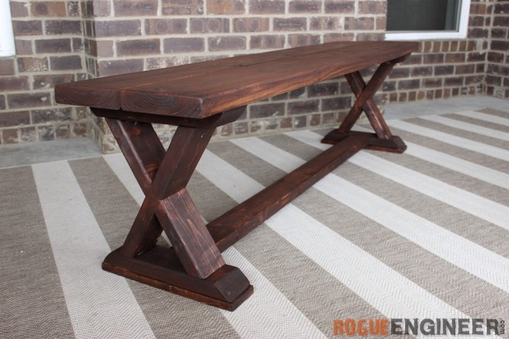 Amazing Diy X Brace Bench Free Easy Plans Rogue Engineer Gmtry Best Dining Table And Chair Ideas Images Gmtryco
