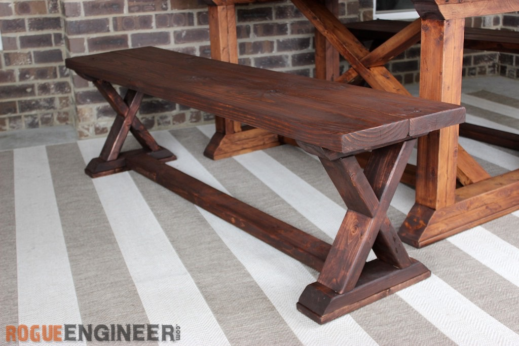 DIY X-Brace Bench | Free Plans | Rogue Engineer