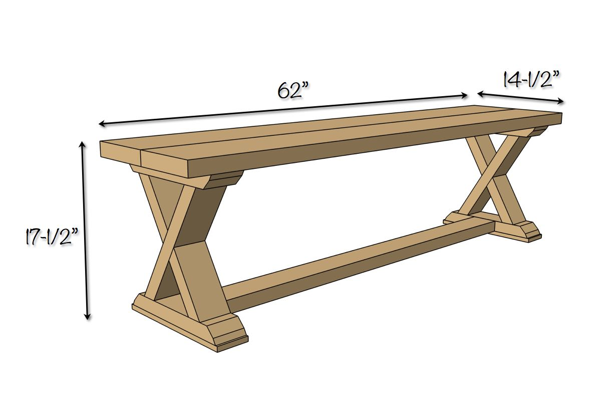 diy x brace bench free easy plans rogue engineer