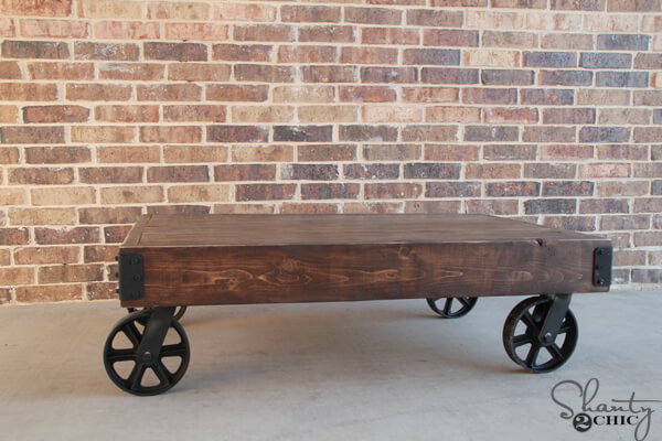 Charmant Industrial Cart Coffee Table