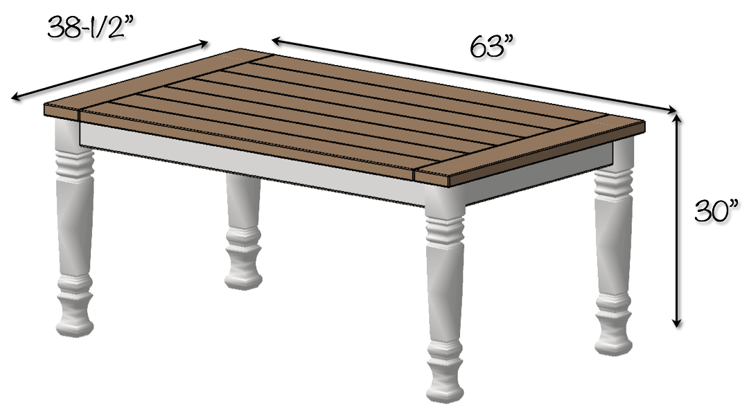 diy farmhouse table free plans rogue engineer. Black Bedroom Furniture Sets. Home Design Ideas