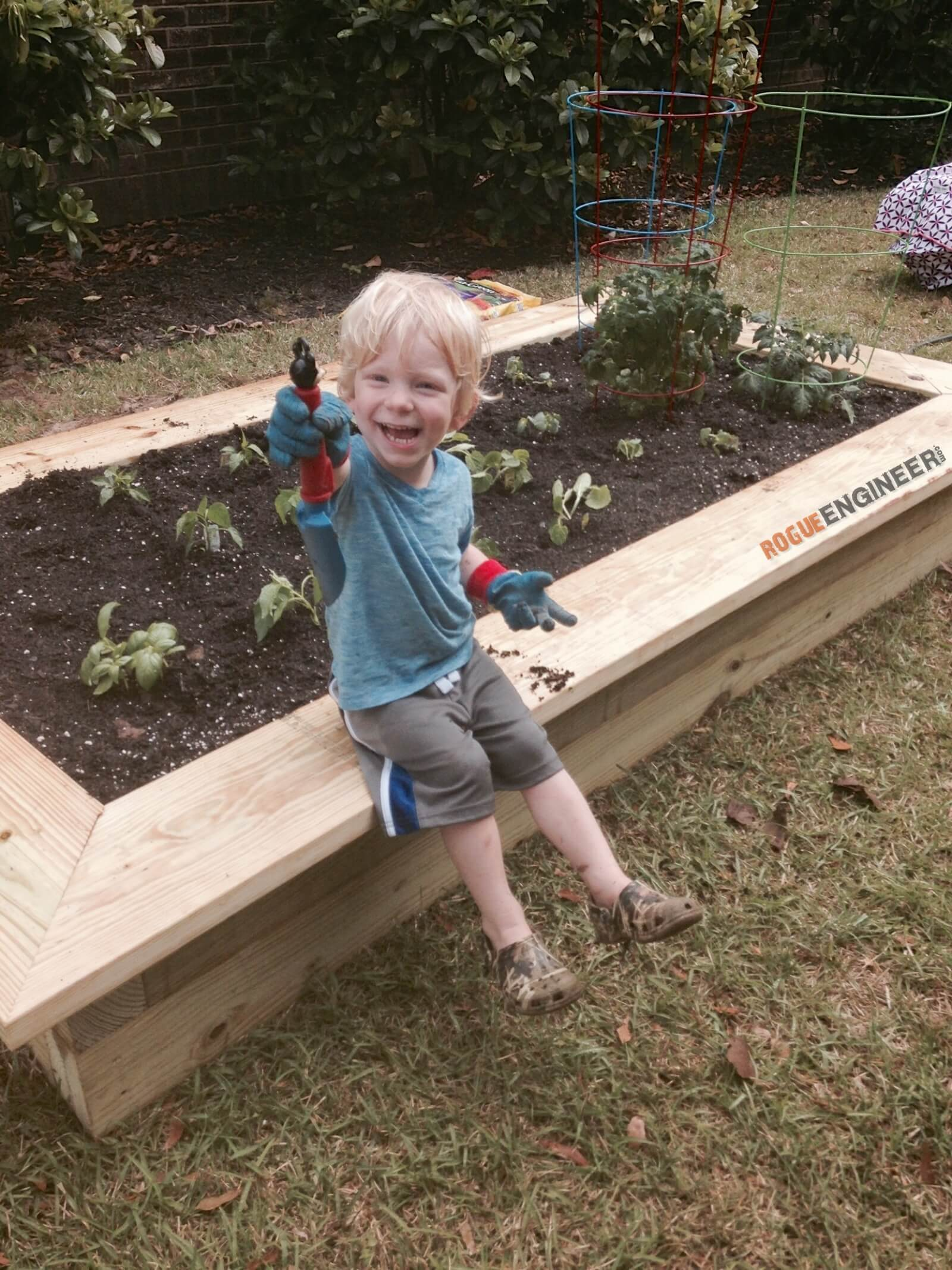 garden plans bed a free simple build planter easy raised