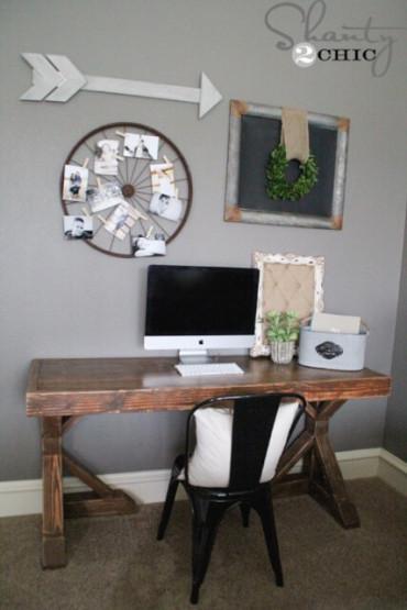 DIY Trestle Desk - Free Plans - Rogue Engineer