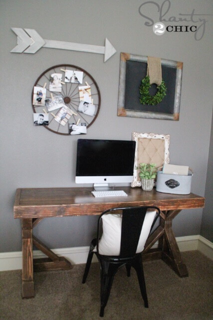 Diy Trestle Desk Free Plans Rogue Engineer
