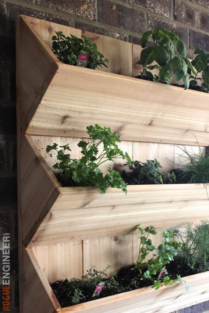 DIY Wall Planter - Free Plans - Rogue Engineer