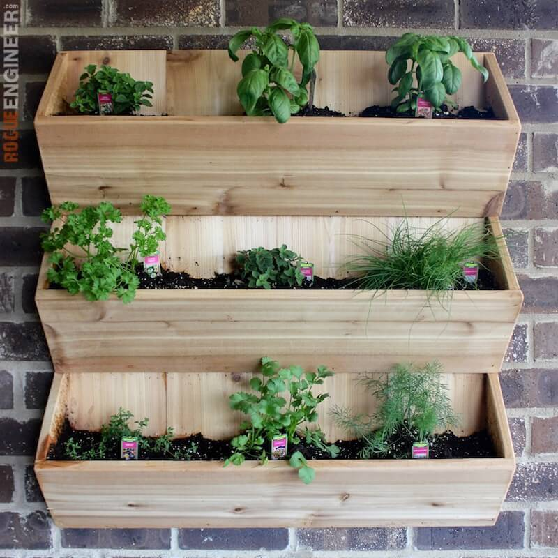Diy Wall Planter Free Plans Rogue Engineer