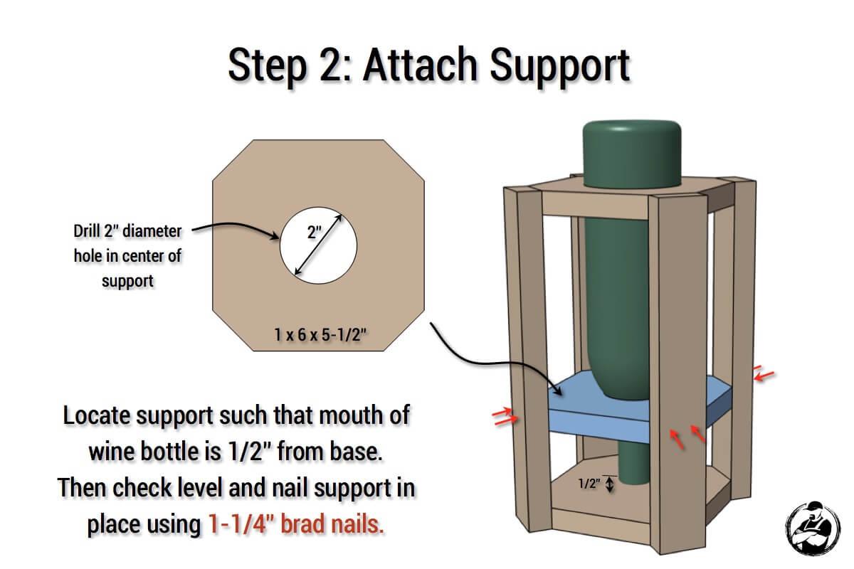 DIY Wine Bottle Bird Feeder - Step 2