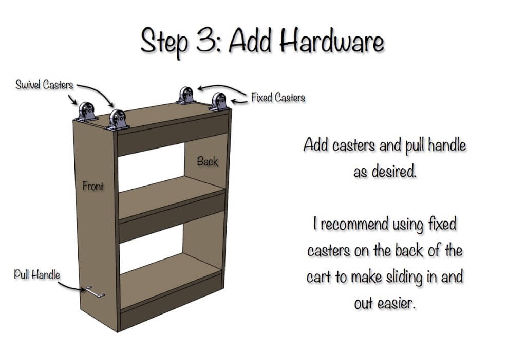 Laundry Room Slim Rolling Storage Cart - Step 3