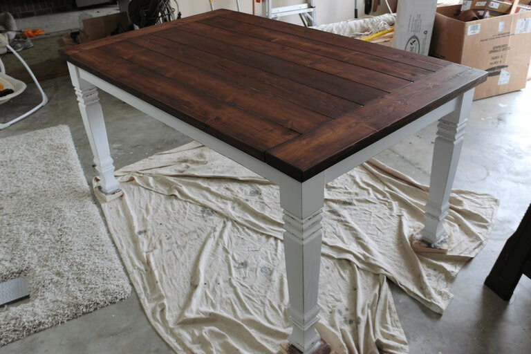 DIY Farmhouse Dining Table - Step 3