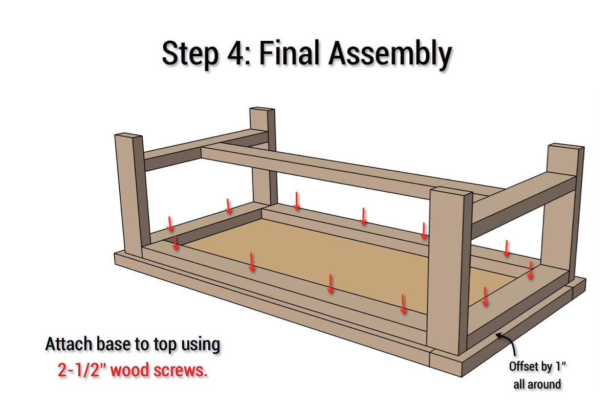 DIY Parquet Coffee Table - Step 4
