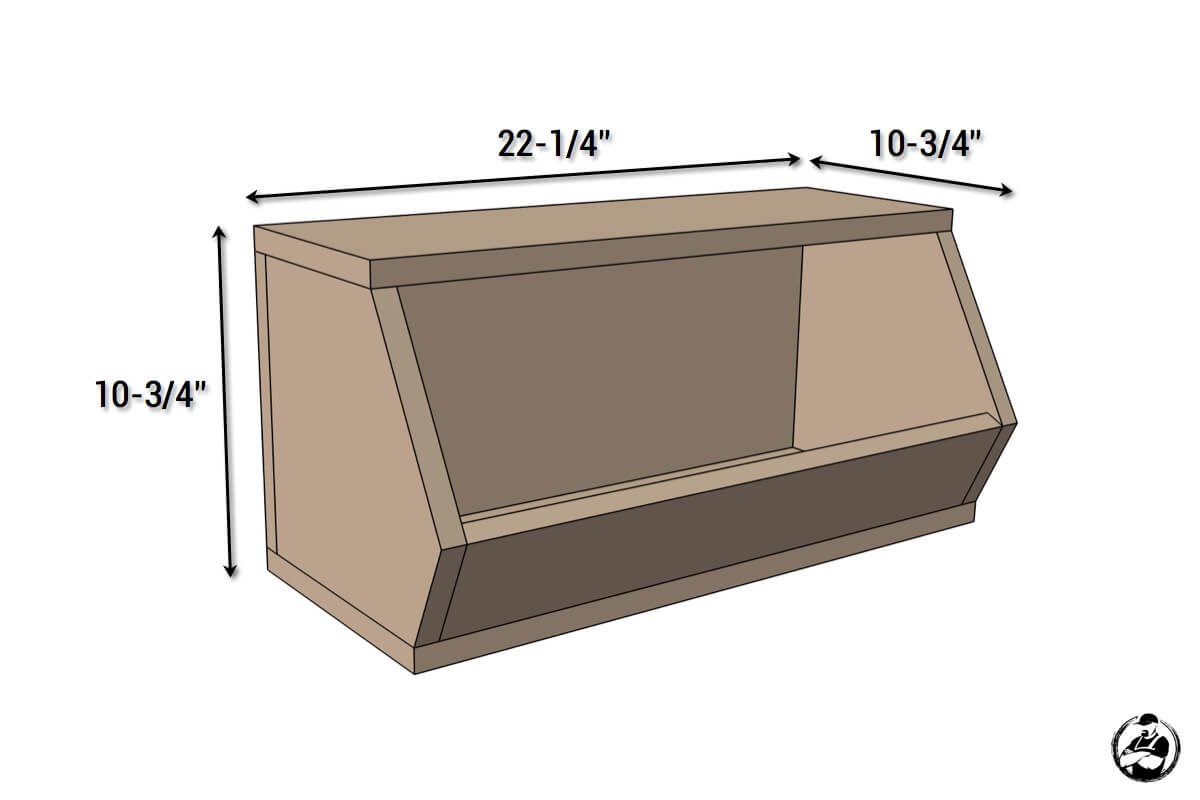 DIY Vegetable Bin Plans - Dimensions