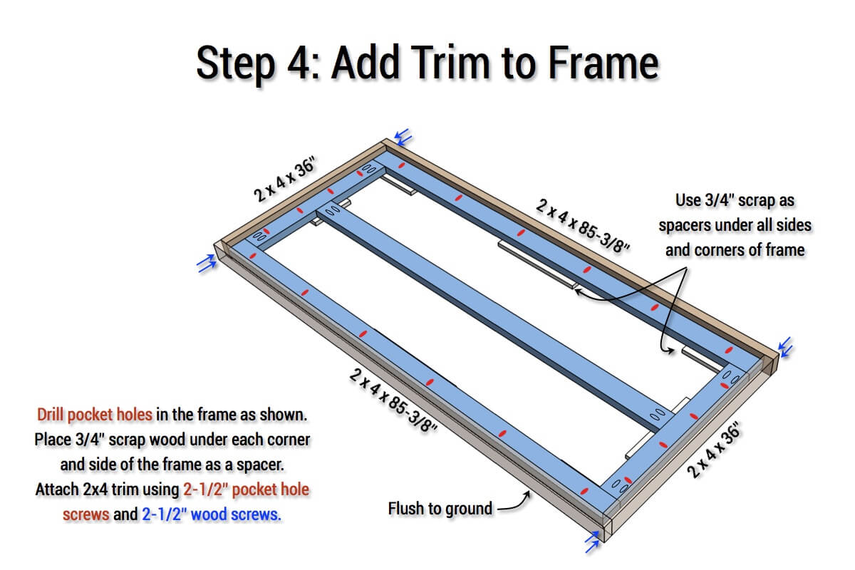 DIY X-Base Herringbone Table Plans - Step 4