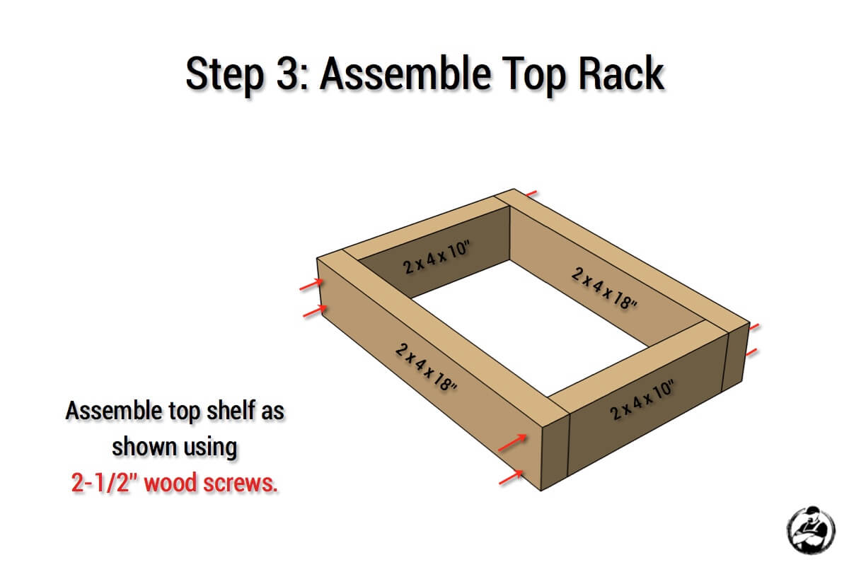 Simple Portable Lumber Rack Plans - Step 3