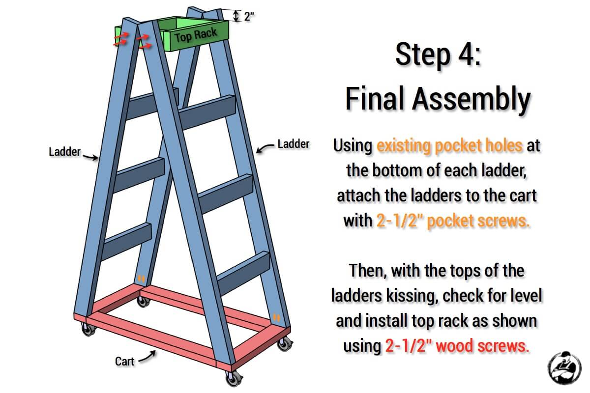 Simple Portable Lumber Rack Plans - Step 4